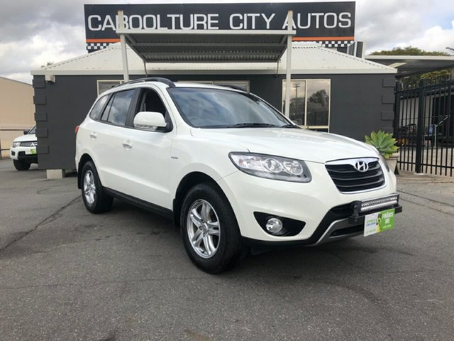 Used Hyundai Santa Fe CM MY12 SLX, 2011 Hyundai Santa Fe CM MY12 SLX White 6 Speed Sports Automatic Wagon