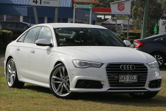Used Audi A6 4G MY17 S Tronic, 2016 Audi A6 4G MY17 S Tronic White 7 Speed Sports Automatic Dual Clutch Sedan