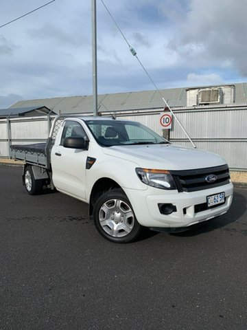 Used Ford Ranger PX XL 4x2, 2012 Ford Ranger PX XL 4x2 White 6 Speed Manual Cab Chassis