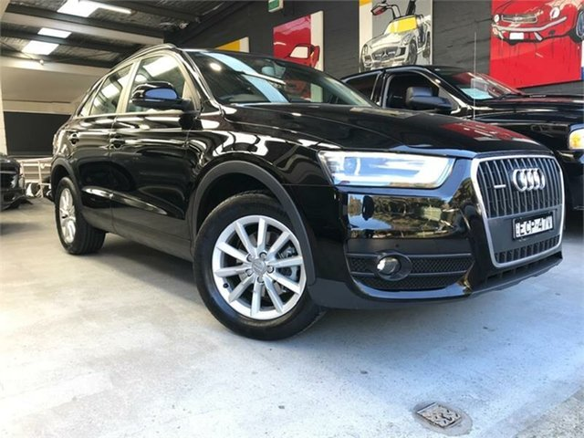 Used Audi Q3 8U TFSI, 2012 Audi Q3 8U TFSI Black Sports Automatic Dual Clutch Wagon