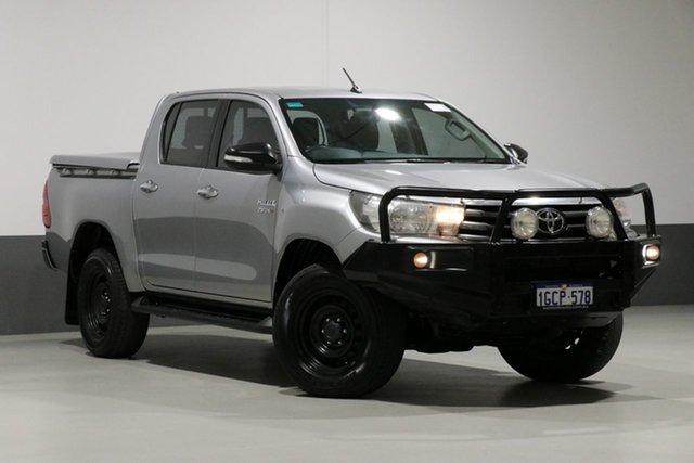Used Toyota Hilux GUN126R SR (4x4), 2016 Toyota Hilux GUN126R SR (4x4) Silver 6 Speed Automatic Dual Cab Utility
