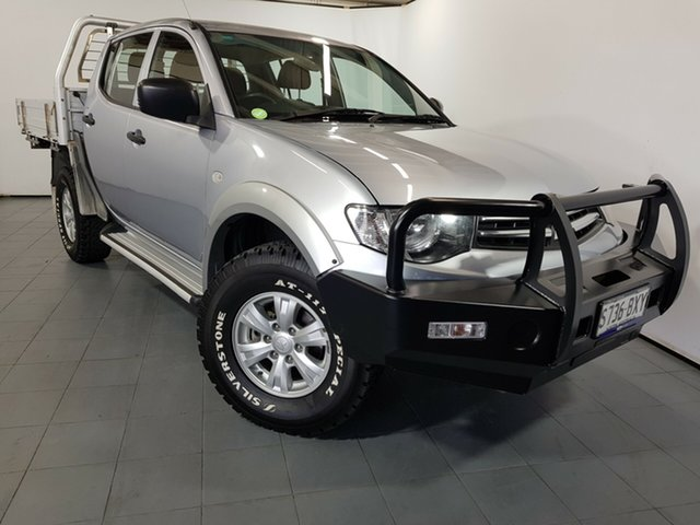 Used Mitsubishi Triton MN MY13 GLX Double Cab, 2013 Mitsubishi Triton MN MY13 GLX Double Cab Silver 5 Speed Manual Utility