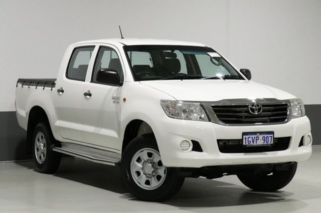Used Toyota Hilux GGN25R MY12 SR (4x4), 2013 Toyota Hilux GGN25R MY12 SR (4x4) White 5 Speed Automatic Dual Cab Pick-up