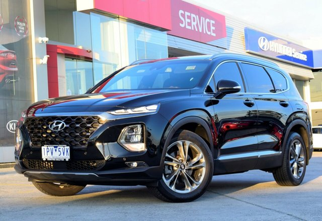 Used Hyundai Santa Fe TM MY19 Highlander, 2018 Hyundai Santa Fe TM MY19 Highlander Black 8 Speed Sports Automatic Wagon