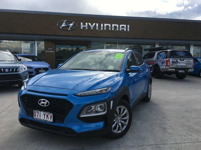 Demo Hyundai Kona OS MY18 Active D-CT AWD, 2018 Hyundai Kona OS MY18 Active D-CT AWD Blue Lagoon 7 Speed Sports Automatic Dual Clutch Wagon