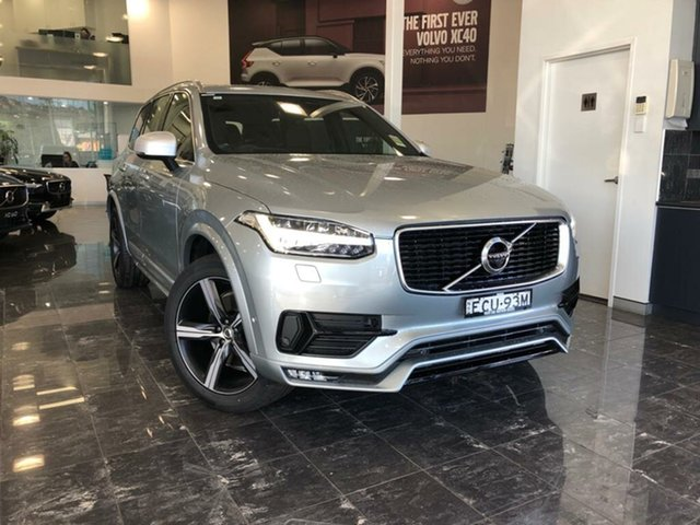 Used Volvo XC90 256 MY19 T6 R-Design (AWD), 2018 Volvo XC90 256 MY19 T6 R-Design (AWD) Electric Silver 8 Speed Automatic Geartronic Wagon