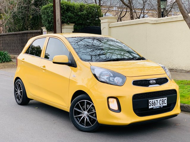 Used Kia Picanto TA MY17 SI, 2016 Kia Picanto TA MY17 SI Yellow 4 Speed Automatic Hatchback