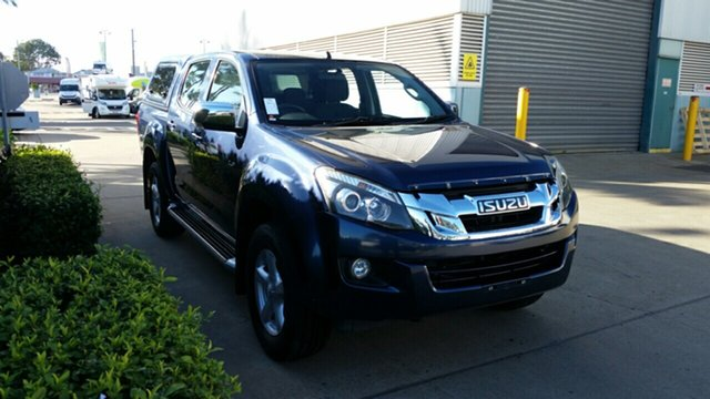 Used Isuzu D-MAX MY14 LS-U Crew Cab 4x2 High Ride, 2014 Isuzu D-MAX MY14 LS-U Crew Cab 4x2 High Ride Blue 5 Speed Sports Automatic Utility