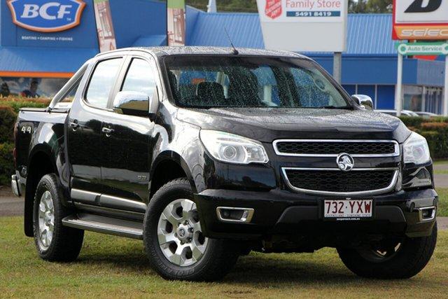 Used Holden Colorado RG MY13 LTZ Crew Cab, 2013 Holden Colorado RG MY13 LTZ Crew Cab Black 5 Speed Manual Utility