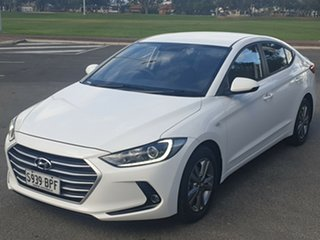 2017 Hyundai Elantra AD MY17 Active White 6 Speed Sports Automatic Sedan.