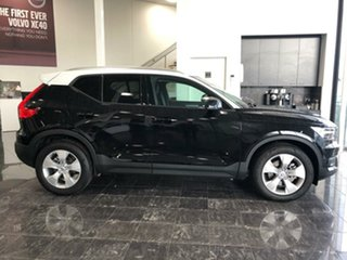 2018 Volvo XC40 536 MY19 T4 Momentum (FWD) Onyx Black & White Roof 8 Speed Automatic Wagon.