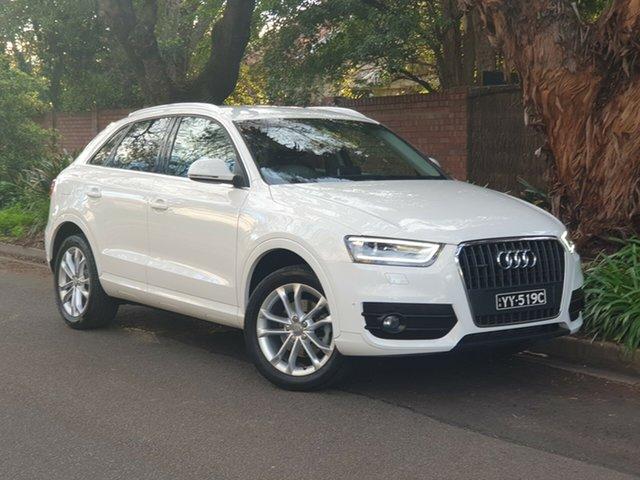 Used Audi Q3 8U MY15 TDI S Tronic Quattro, 2015 Audi Q3 8U MY15 TDI S Tronic Quattro White 7 Speed Sports Automatic Dual Clutch Wagon