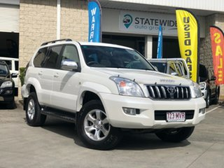 2004 Toyota Landcruiser Prado GRJ120R Grande White 5 Speed Automatic Wagon.