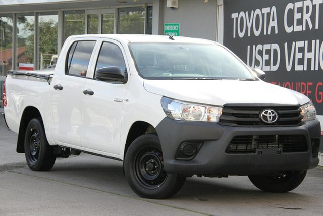 Used Toyota Hilux TGN121R Workmate Double Cab 4x2, 2015 Toyota Hilux TGN121R Workmate Double Cab 4x2 Glacier White 6 Speed Sports Automatic Utility