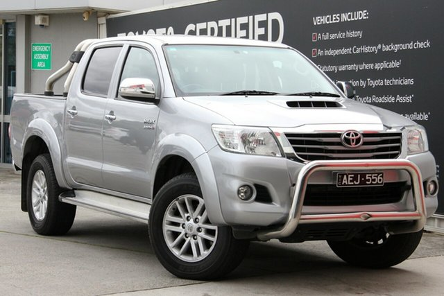 Used Toyota Hilux KUN26R MY14 SR5 Double Cab, 2015 Toyota Hilux KUN26R MY14 SR5 Double Cab Silver Sky 5 Speed Automatic Utility