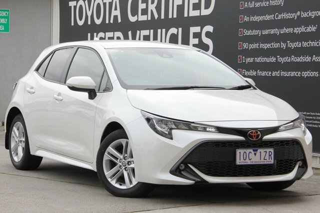 Used Toyota Corolla Mzea12R SX, 2018 Toyota Corolla Mzea12R SX Crystal Pearl 10 Speed Constant Variable Hatchback