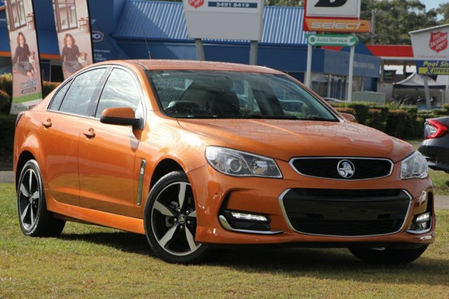 Used Holden Commodore VF II MY17 SV6, 2017 Holden Commodore VF II MY17 SV6 Orange 6 Speed Sports Automatic Sedan