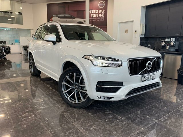 Used Volvo XC90 L Series MY19 T6 Geartronic AWD Momentum, 2018 Volvo XC90 L Series MY19 T6 Geartronic AWD Momentum Crystal White Pearl 8 Speed