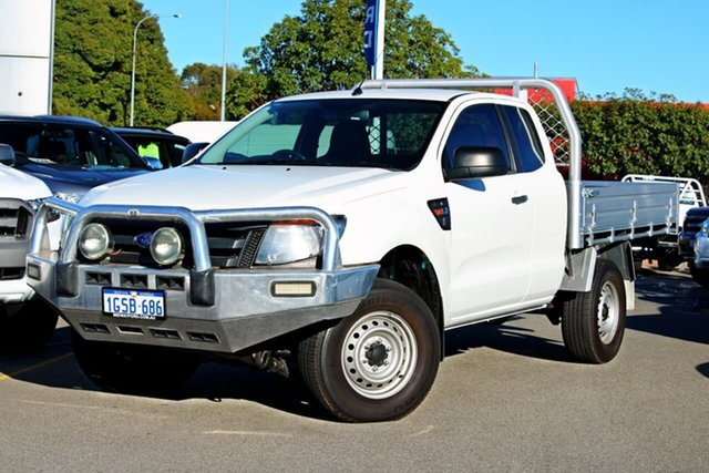 Used Ford Ranger PX XL Super Cab, 2013 Ford Ranger PX XL Super Cab White 6 Speed Manual Cab Chassis