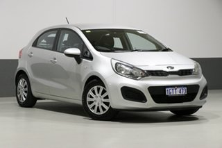 2012 Kia Rio UB S Silver 6 Speed Manual Hatchback.
