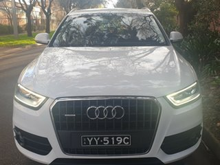2015 Audi Q3 8U MY15 TDI S Tronic Quattro White 7 Speed Sports Automatic Dual Clutch Wagon.
