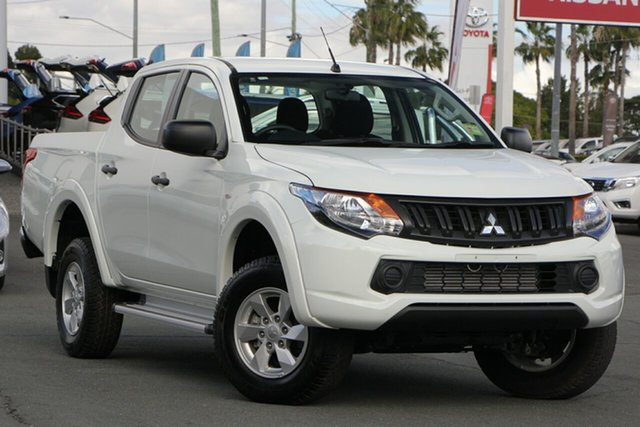 Used Mitsubishi Triton MQ MY18 GLX+ Double Cab, 2018 Mitsubishi Triton MQ MY18 GLX+ Double Cab White 6 Speed Manual Utility