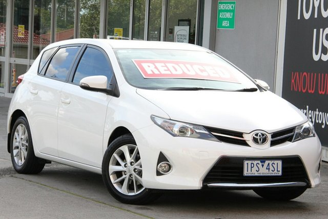 Used Toyota Corolla ZRE182R Ascent Sport S-CVT, 2015 Toyota Corolla ZRE182R Ascent Sport S-CVT Glacier White 7 Speed Constant Variable Hatchback