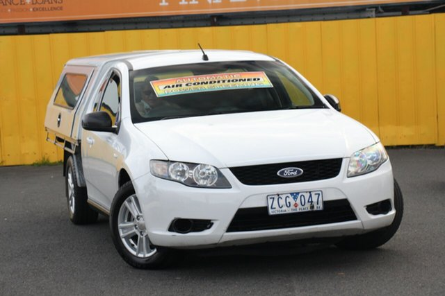 Used Ford Falcon FG Super Cab, 2009 Ford Falcon FG Super Cab White 4 Speed Automatic Cab Chassis