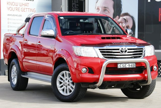 Used Toyota Hilux KUN26R MY14 SR5 Double Cab, 2015 Toyota Hilux KUN26R MY14 SR5 Double Cab Red 5 Speed Automatic Utility