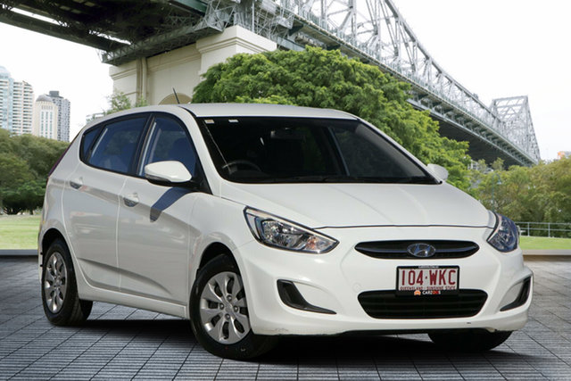 Used Hyundai Accent RB2 Active, 2014 Hyundai Accent RB2 Active White 4 Speed Sports Automatic Hatchback