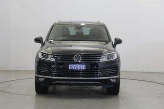 2017 Volkswagen Touareg 7P MY17 V8 TDI Tiptronic 4MOTION R-Line Deep Black Pearl Effect 8 Speed.