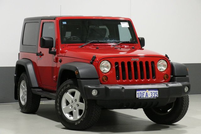 Used Jeep Wrangler JK MY09 Sport (4x4), 2009 Jeep Wrangler JK MY09 Sport (4x4) Red 6 Speed Manual Softtop