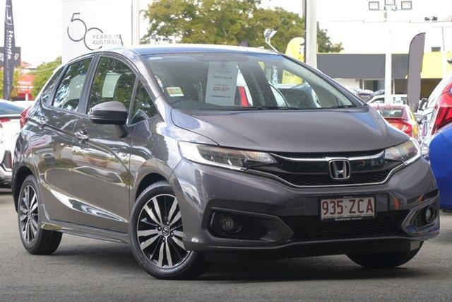 Demo Honda Jazz GF MY19 VTi-L, 2019 Honda Jazz GF MY19 VTi-L Modern Steel 1 Speed Constant Variable Hatchback