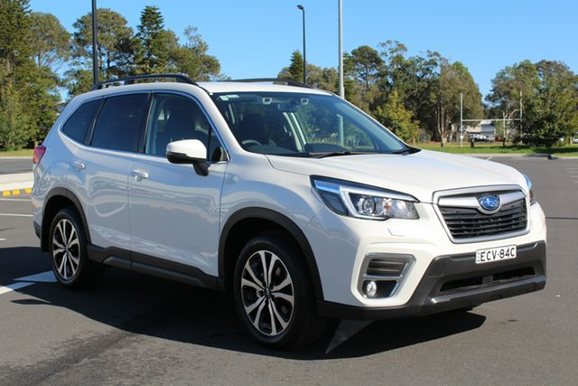 Used Subaru Forester S5 MY19 2.5i Premium CVT AWD, 2019 Subaru Forester S5 MY19 2.5i Premium CVT AWD Pearl White 7 Speed Constant Variable Wagon