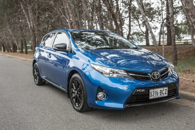 Used Toyota Corolla ZRE182R RZ S-CVT, 2014 Toyota Corolla ZRE182R RZ S-CVT Blue 7 Speed Constant Variable Hatchback