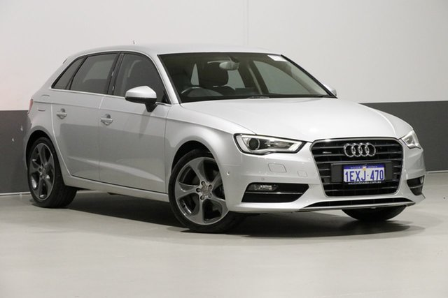 Used Audi A3 8V Sportback 1.8 TFSI Ambition, 2013 Audi A3 8V Sportback 1.8 TFSI Ambition Silver 7 Speed Auto Direct Shift Hatchback
