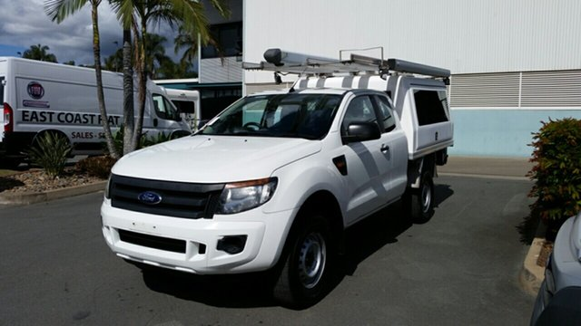 Used Ford Ranger PX XL Super Cab 4x2 Hi-Rider, 2013 Ford Ranger PX XL Super Cab 4x2 Hi-Rider Cool White 6 Speed Sports Automatic Cab Chassis