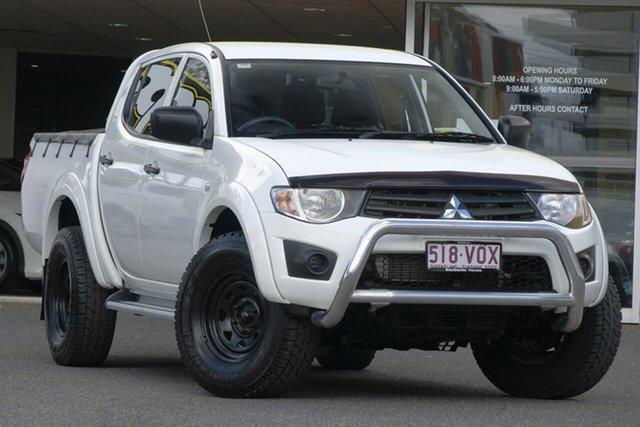 Used Mitsubishi Triton MN MY15 GLX 4x2, 2014 Mitsubishi Triton MN MY15 GLX 4x2 White 4 Speed Sports Automatic Cab Chassis