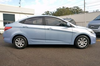 2012 Hyundai Accent RB Active Blue 4 Speed Sports Automatic Sedan.