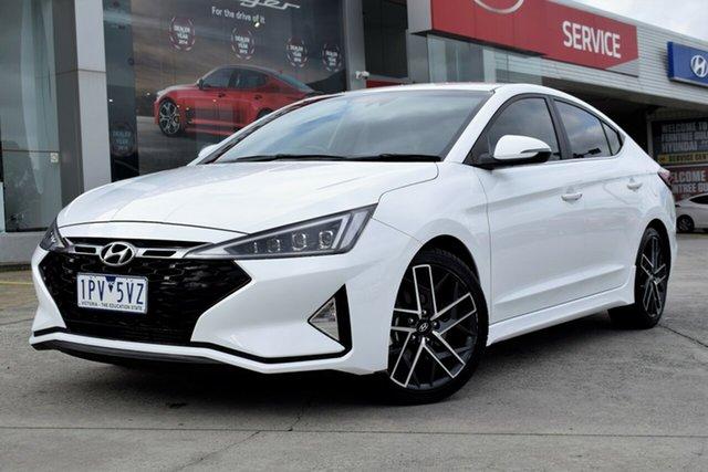 Used Hyundai Elantra AD.2 MY19 Sport DCT, 2019 Hyundai Elantra AD.2 MY19 Sport DCT White 7 Speed Sports Automatic Dual Clutch Sedan
