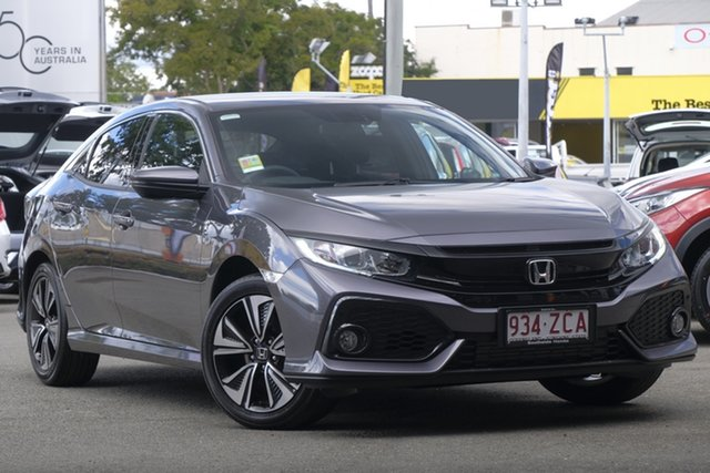 Demo Honda Civic 10th Gen MY19 VTi-L, 2019 Honda Civic 10th Gen MY19 VTi-L Modern Steel 1 Speed Constant Variable Hatchback