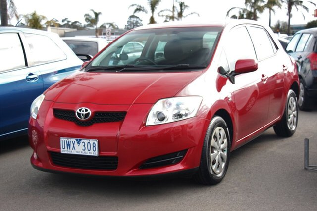 Used Toyota Corolla ZRE152R Ascent, 2007 Toyota Corolla ZRE152R Ascent Burgundy 4 Speed Automatic Hatchback