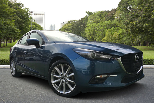 Used Mazda 3 BN5238 SP25 SKYACTIV-Drive GT, 2018 Mazda 3 BN5238 SP25 SKYACTIV-Drive GT Blue 6 Speed Sports Automatic Sedan