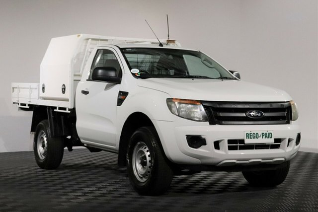 Used Ford Ranger PX XL, 2012 Ford Ranger PX XL White 6 Speed Sports Automatic Cab Chassis