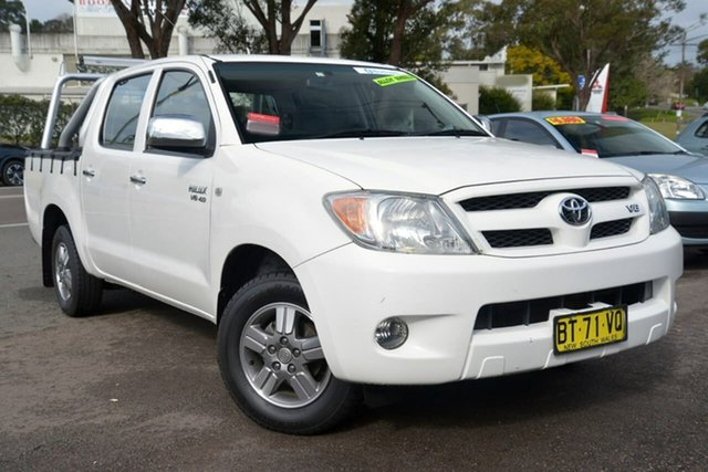 Used Toyota Hilux GGN15R MY08 SR 4x2, 2007 Toyota Hilux GGN15R MY08 SR 4x2 White 5 Speed Manual Utility
