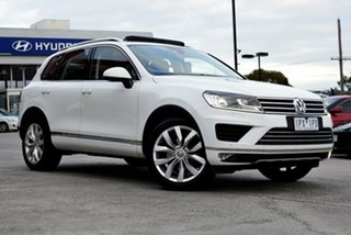 2016 Volkswagen Touareg 7P MY16 V6 TDI Tiptronic 4MOTION White 8 Speed Sports Automatic Wagon.