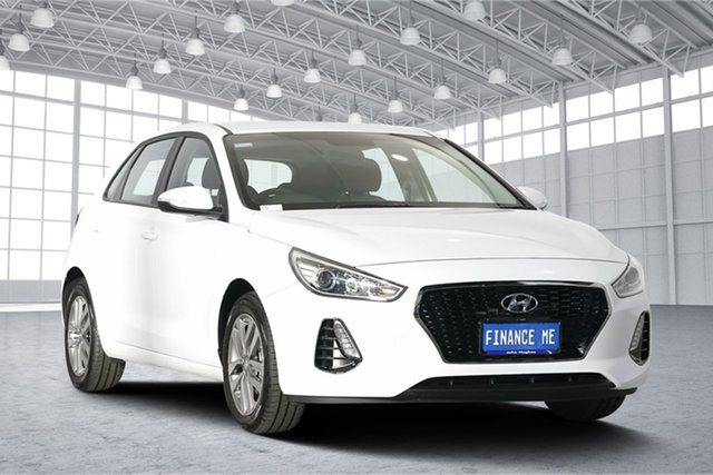 Used Hyundai i30 PD2 MY18 Active, 2018 Hyundai i30 PD2 MY18 Active Polar White 6 Speed Sports Automatic Hatchback