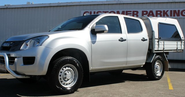 Used Isuzu D-MAX MY15 SX Crew Cab, 2016 Isuzu D-MAX MY15 SX Crew Cab Grey 5 Speed Sports Automatic Utility