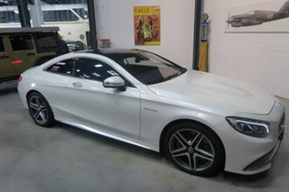 2015 Mercedes-Benz S-Class C217 806MY S63 AMG SPEEDSHIFT MCT White 7 Speed Sports Automatic Coupe