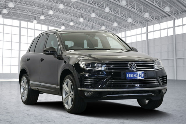 Used Volkswagen Touareg 7P MY17 V8 TDI Tiptronic 4MOTION R-Line, 2017 Volkswagen Touareg 7P MY17 V8 TDI Tiptronic 4MOTION R-Line Deep Black Pearl Effect 8 Speed